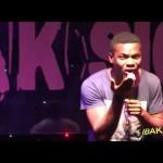 Video: Mc Shakara uses umbrella to drive his car